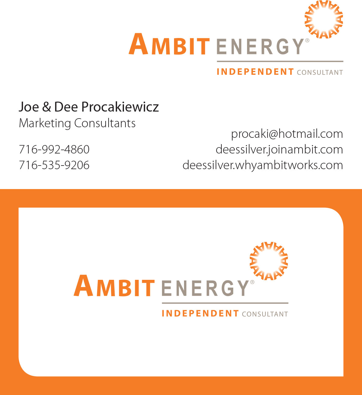 Ambit Energy Business Card Template